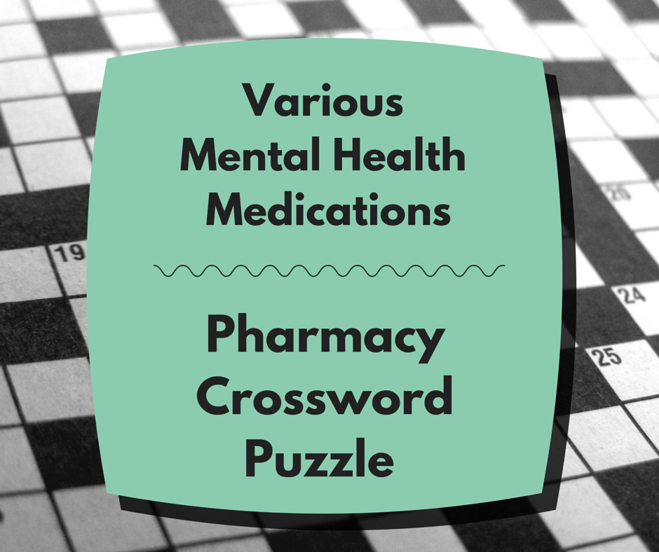 pharmacy crosswords canada mental health drugs