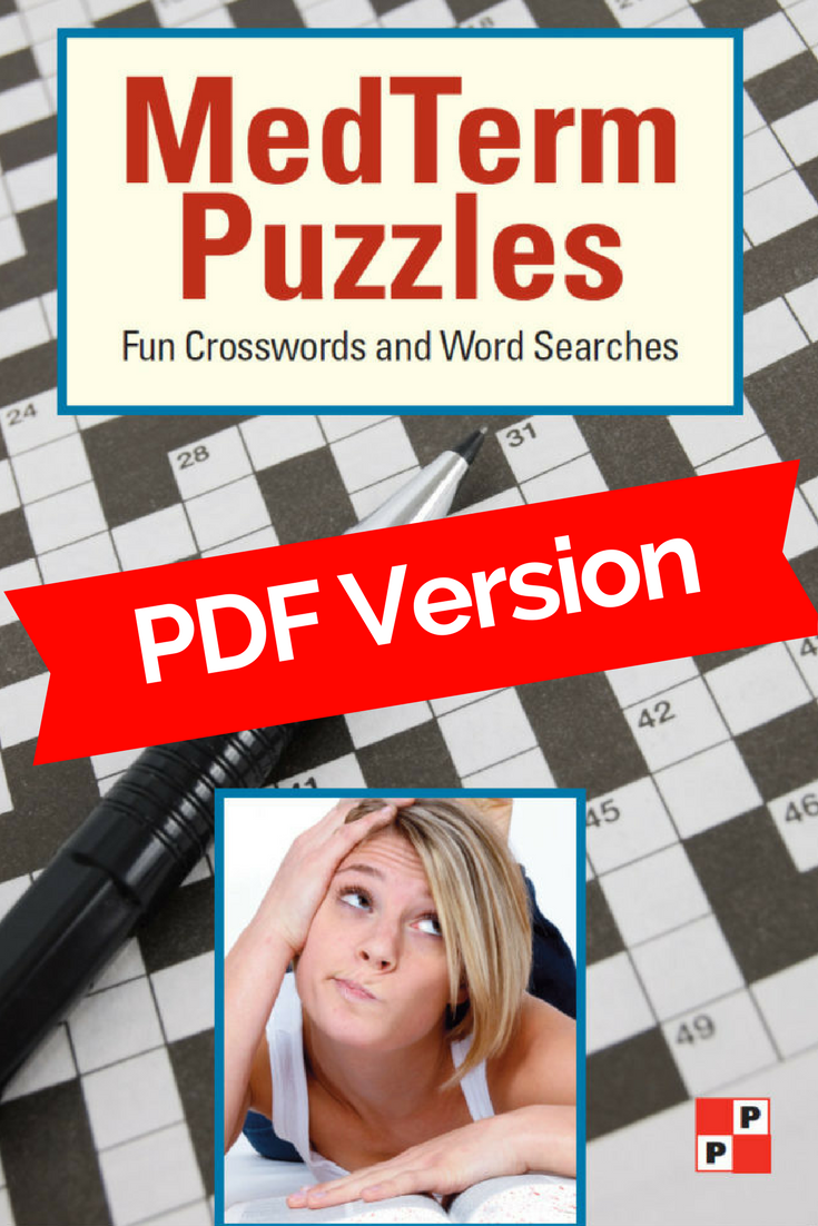 Medical Terminology Crossword and Word Search PDF version cover photo