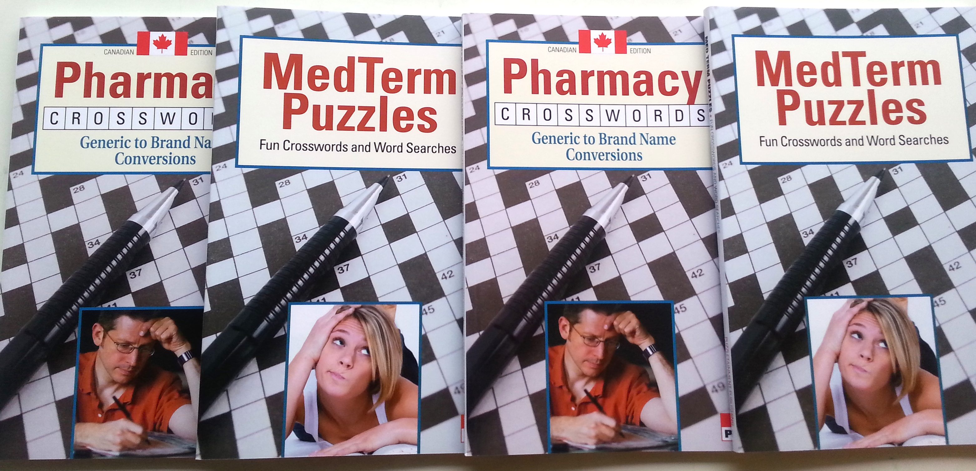 Pharmacy crossword book cover header