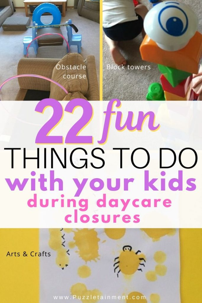 Things to do with your kids during daycare closures