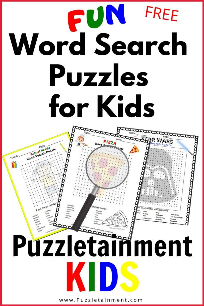 Puzzletainment KIDS has lots of fun free printable word search puzzles for kids.