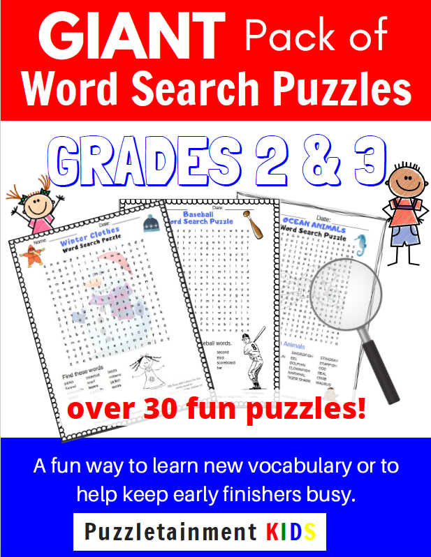 Word Search Puzzles for Grades 2 and 3